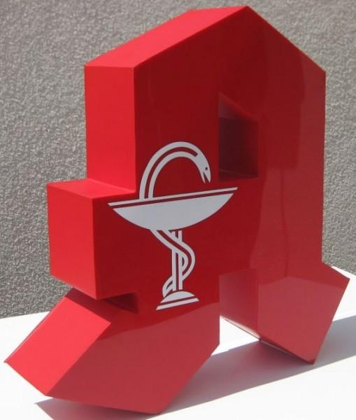 3D LED Apothekenzeichen für Schaufenster