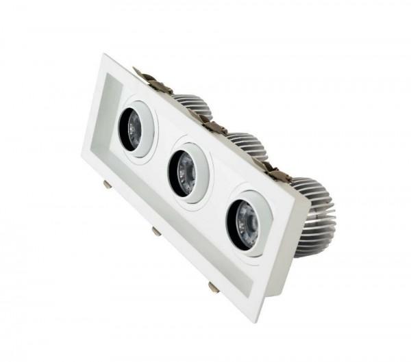30W LED COB Einbaustrahler schwenkbar Deckenausschnitt 280*95mm