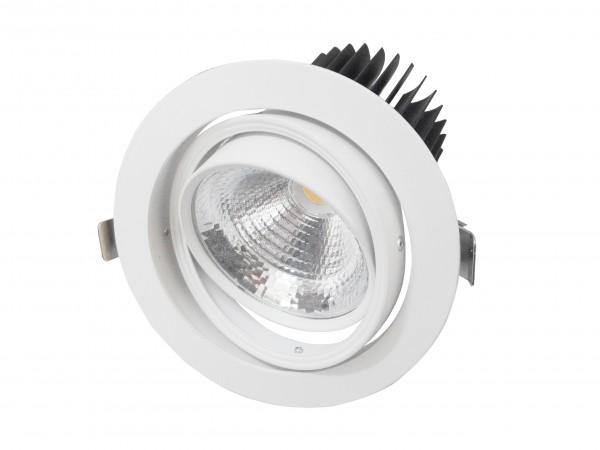 35W LED COB Einbaustrahler schwenkbar Deckenausschnitt 145mm