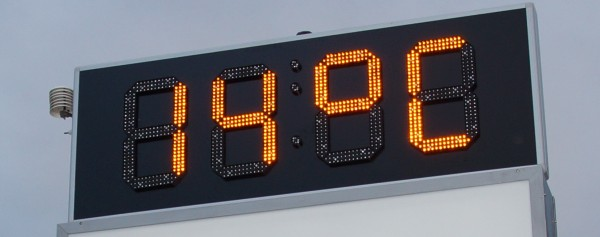 45cm LED GPS Uhr/Temperatur Anzeige für Apotheken