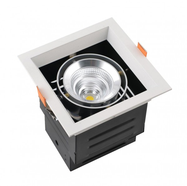 15W LED COB Gerolamo Cardanos Einbauleuchte Deckenausschnitt 140x140mm